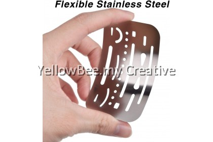 Eraser Shield Stainless Steel Drawing Template Drafting Tool 90mm x 57mm