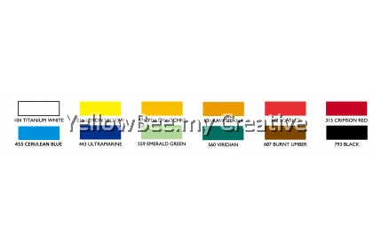 Maries Acrylic Colouring Painting 812B Set 12 Colors x 12ml Tubes Acrylic Paints on Canvas Wood Wall
